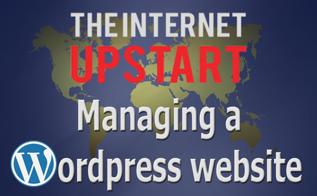 Wordpress courses - How to manage a wordpress website